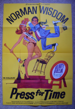 Press For Time Norman Wisdom Film Poster - British One Sheet